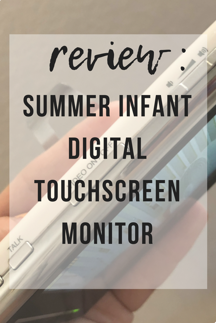 Summer Infant Digital Touchscreen Monitor Review | www.thevegasmom.com