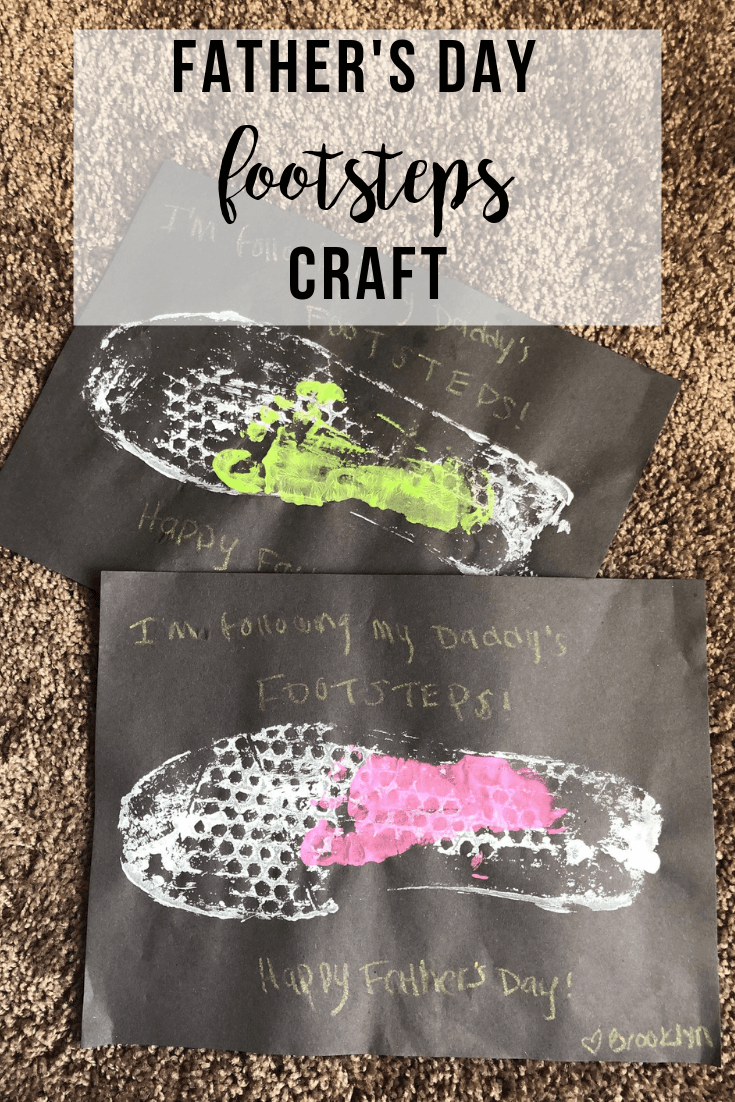 Father's Day Footsteps Craft | www.thevegasmom.com