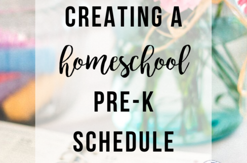 Creating a Homeschool Pre-K Schedule