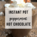 Instant Pot Peppermint Hot Chocolate | www.thevegasmom.com