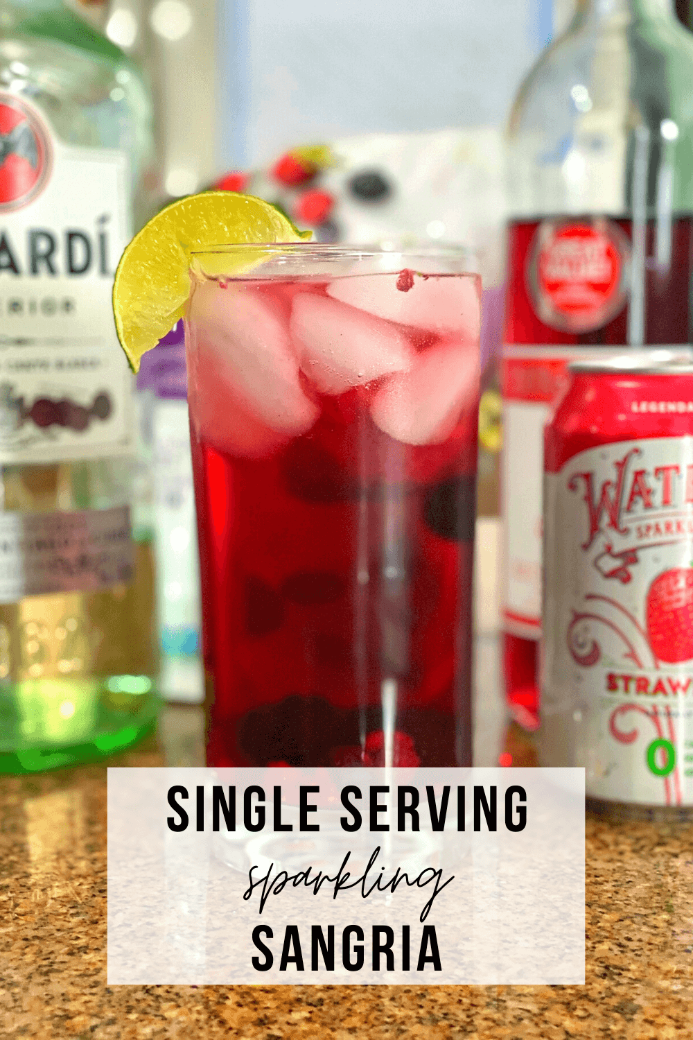 Single Serving Sparkling Sangria | www.thevegasmom.com