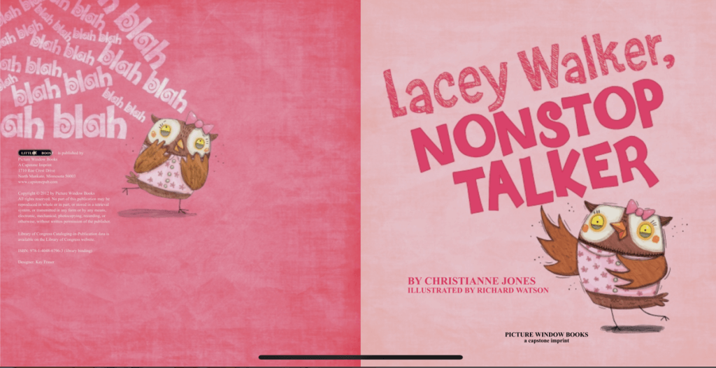 Children's Book of the Week: Lacey Walker, Nonstop Talker | www.thevegasmom.com